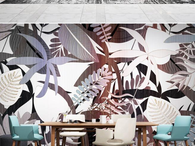 Фотообои Листья пальм