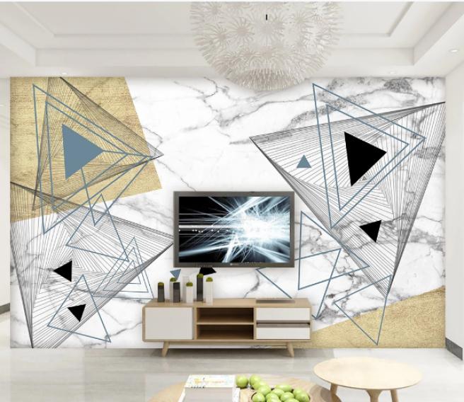 Фотообои треугольники на мраморе