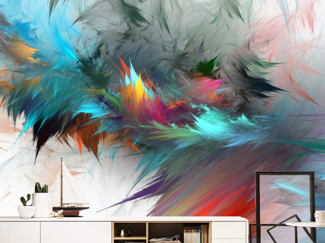 Перья в ярких красках