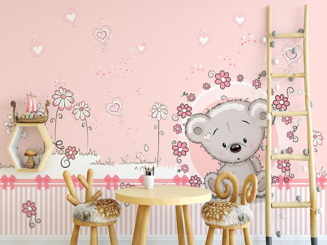 Розовые мишки