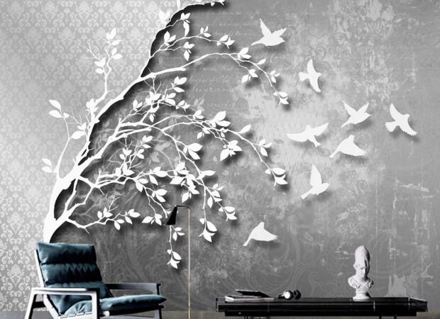Птицы улетающие с дерева