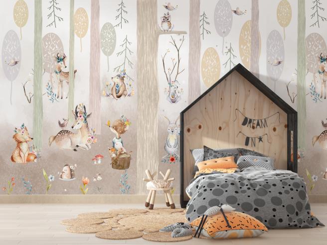Фотообои сказочный лес с животными