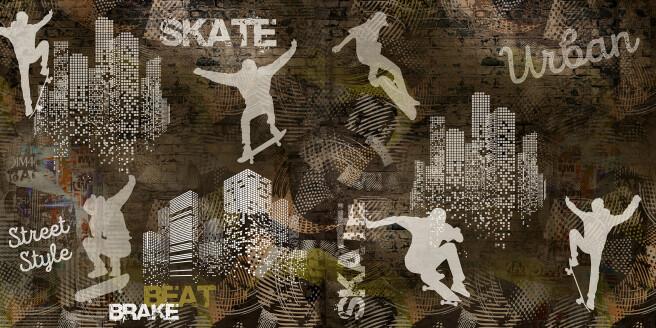 Фотообои скейтеры