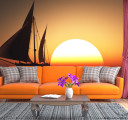 Фотообои Яхта в закате