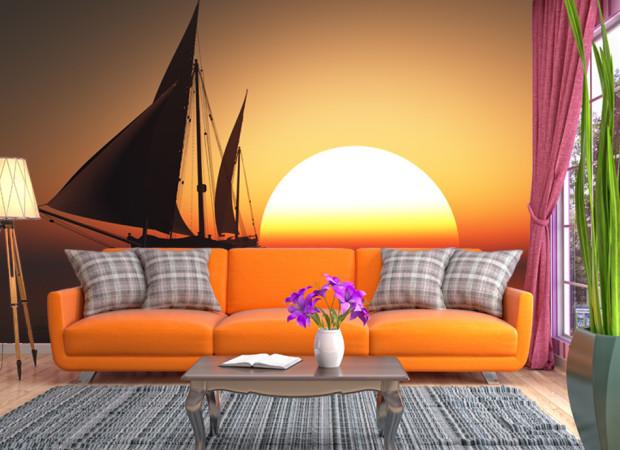 Яхта в закате