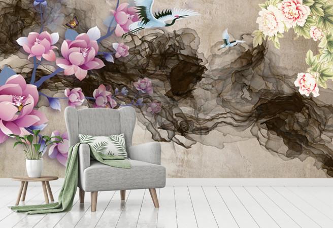 Фотообои цветы и дымка