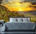 Фотообои солнце в горах