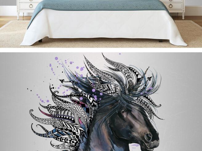 Фотообои Лошадь с перьями