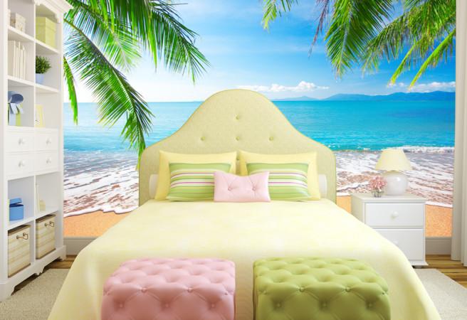 Фотообои пальмы и пляж