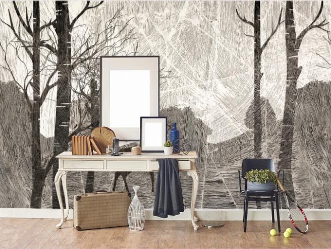 Фотообои рисунок карандашом по стене
