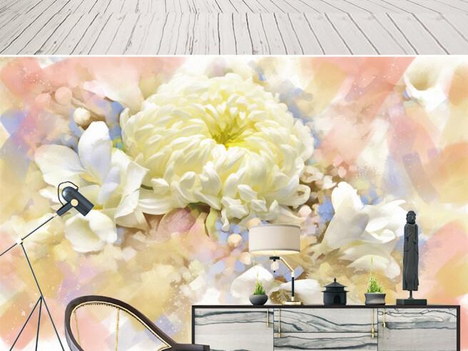 Фотообои Большой белый пион