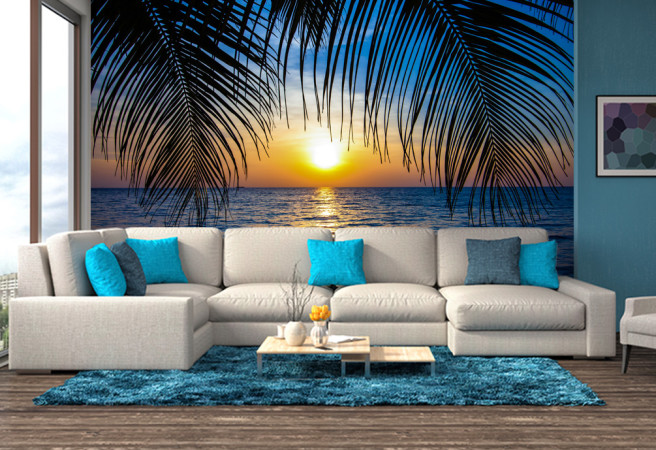 Закат среди пальм