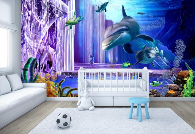 Фотообои сказочные дельфины