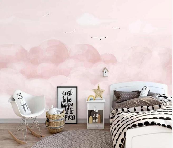 Фотообои розовые облачка