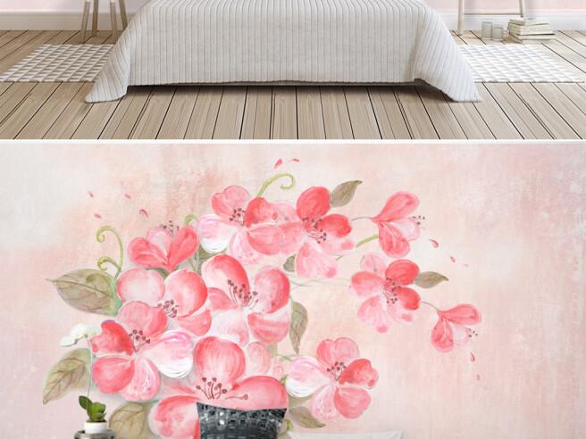 Фотообои Написованные розовые цветы