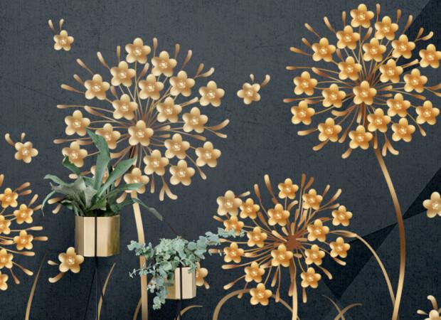 Редкие золотые цветы