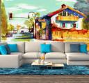 домик красками