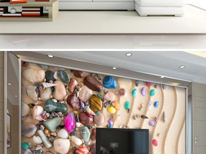 Фотообои Россыпь камней на песке