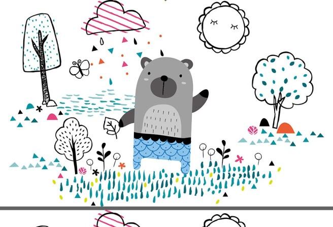 Мишка под грибным дождиком