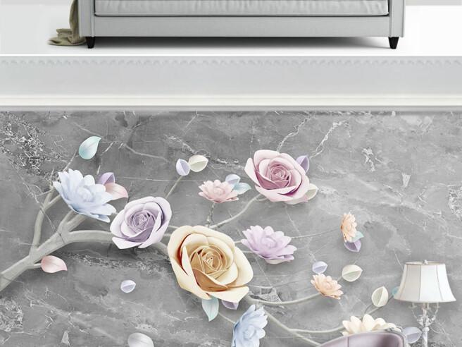 Фотообои Нежные розы на ветке