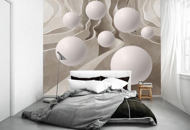 Фотообои шары в лабиринте