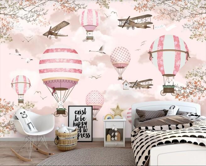 воздушные шары, самолеты и зверьки