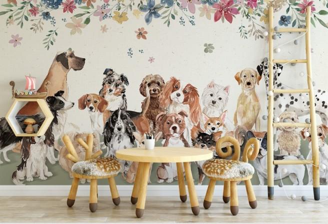 Фотообои Разные собаки