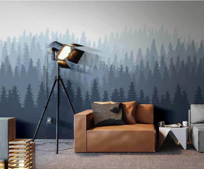 лес в современном стиле