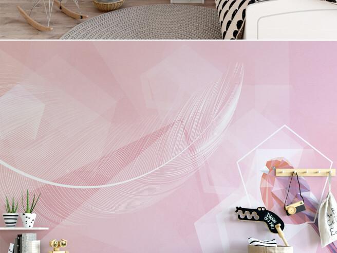 Розовое перо и птица