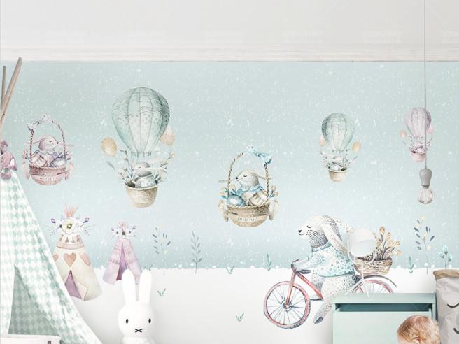 Фотообои Довольные зайцы