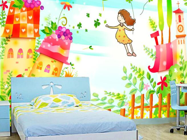 Фотообои Девочка и сказочный домик