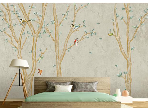 Птицы на золотом дереве