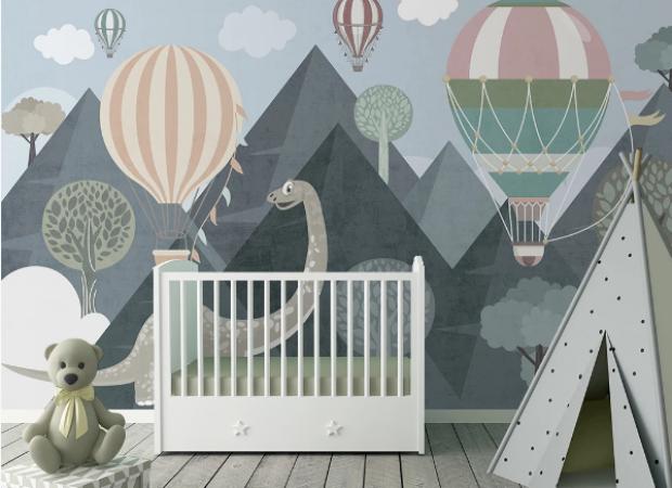 динозаврик и горы
