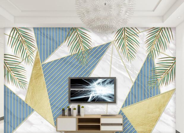 Треугольники и листья пальм