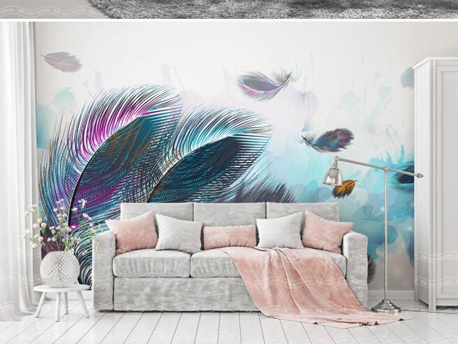 Морское дно из перьев