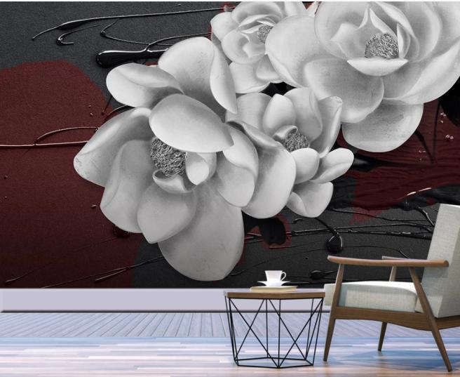 Фотообои трехмерный цветок