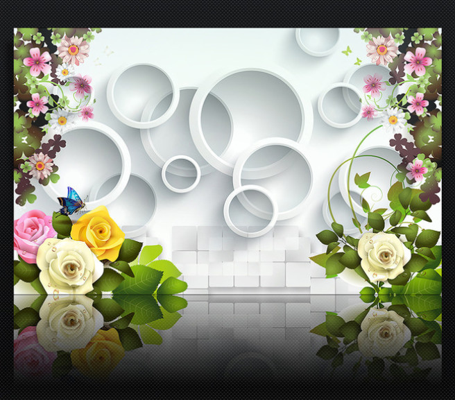 Фотообои Круги в цветах