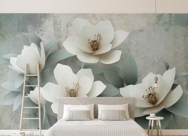 Четкие белые цветы