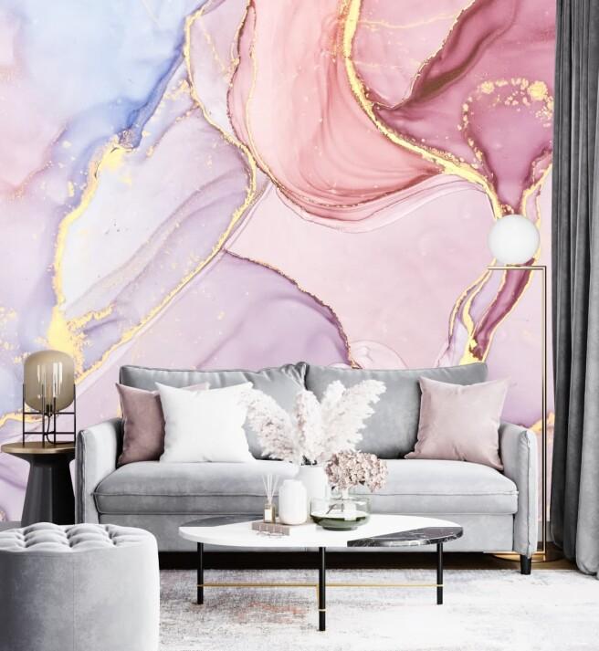 Фотообои золото с розовым оттенком