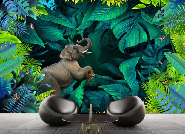 Слон с задратым хоботом