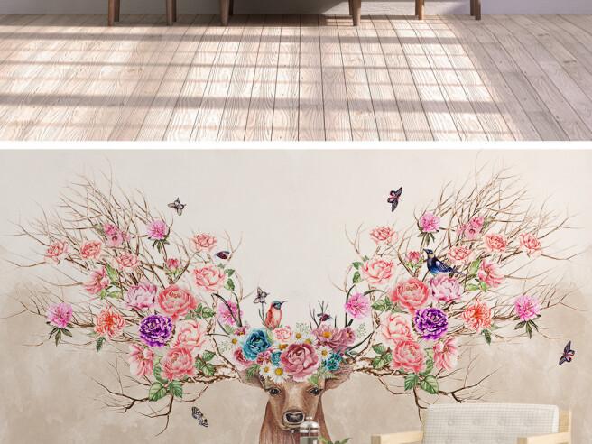 Фотообои Весенний олень