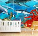 Фотообои Подводный мир с акулами