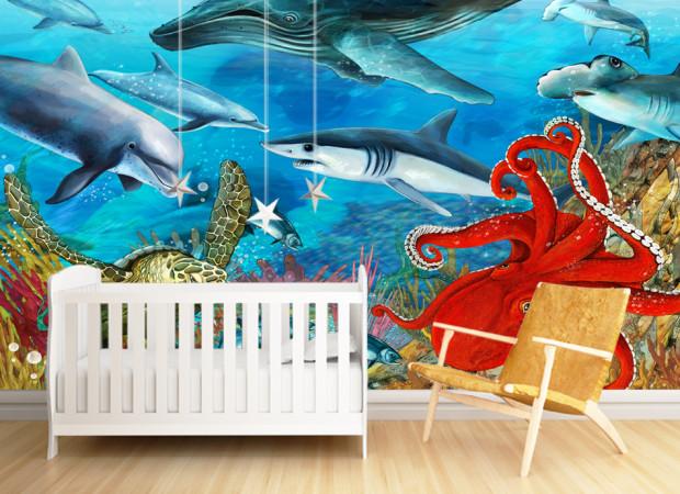 Подводный мир с акулами