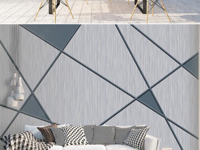 Фотообои Серая треугольная стена