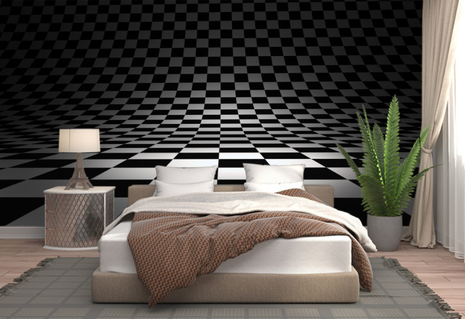 Фотообои Шахматная иллюзия