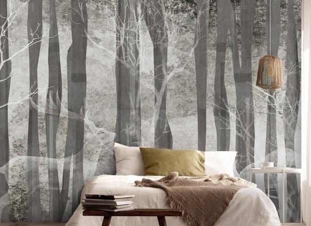 Призрак оленя в лесу