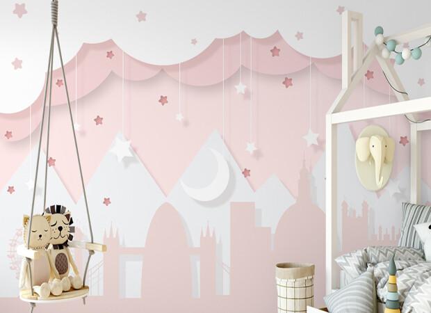 Розовые горы и звезды