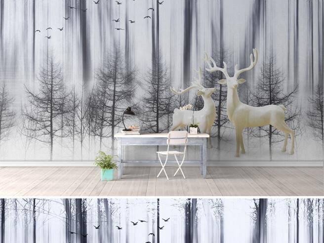 Фотообои Два белых оленя