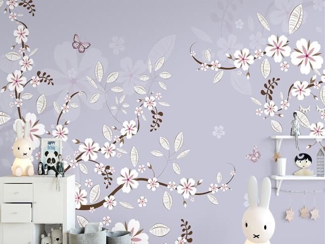 Фотообои Веточка с белыми цветами