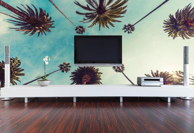 Фотообои стена с пальмами